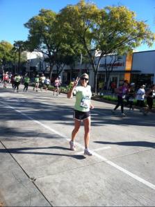 Running past my friend Jan during the 2013 Rock n Roll Pasadena 1/2 Marathon
