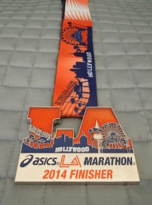 LA Marathon 2014 finisher medal