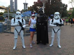 With Darth and the Stormtroopers, 2013 Disneyland 1/2 marathon